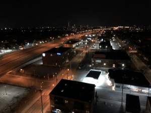 The highway that runs thru the heart of Ottawa, Ontario, a city of 1,000,000 at 12am on a Sat night.: The highway that runs thru the heart of Ottawa, Ontario, a city of 1,000,000 at 12am on a Sat night.