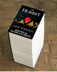epicjohndoe:  And It's Only Part One: THE  HOBBIT  J R R TOLKIEN  EDITED by  PETER JACKSON epicjohndoe:  And It's Only Part One