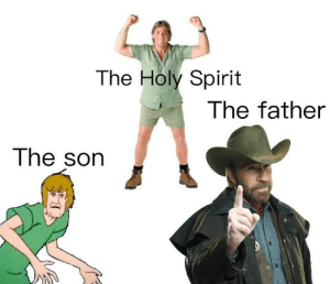 Gods amongst men: The Holy Spirit  The father  The sorn Gods amongst men