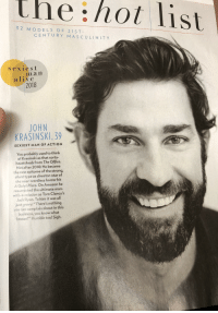 """Alive, Amazon, and John Krasinski: the hot list  3 2 M O DELS OF 21 ST  CENTURY MASCULINITY  sexiest  ma n  alive  2018  JOHN  KRASINSKI, 39  SEXIEST MAN OF ACTION  You probably used to think  of Krasinski as that sorta-  heartthrob from The Office  Not after 2018: He became  the new epitome of the strong  silent type as director-star of  the near-wordless horror hit  A Quiet Place. On Amazon he  resurrected the ultimate man  with-a-mission as Tom Clancy's  Jack Ryan. To him it was all  just gravy: """"There's nothing  you can complain about in this  business, you know what  I mean?"""" Humble too! Sigh."""