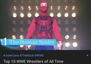 me irl: The Human Spider  #JohnCena #TheRock #WWE  Top 10 WWE Wrestlers of All Time me irl