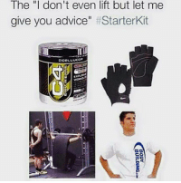 "Advice, Gym, and Free: The ""I don't even lift but let me  give you advice  Starter Kit 😂😂 . @DOYOUEVEN 👈🏼 FREE SHIPPING ON ALL ORDERS 🌍🚚 ENDS TODAY! LINK IN BIO ✔️"