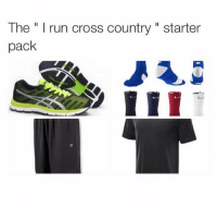 "Oh you run? I jog!😩😂 tag friends👇🏻 starterpacks crosscountry tagsforlikes: The "" I run cross country "" starter  pack Oh you run? I jog!😩😂 tag friends👇🏻 starterpacks crosscountry tagsforlikes"