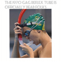 Click, Funny, and Memes: THE I97O GAG REPLEX TUDE IS  OFFICIALLY DEAD FOLKS HEY! 😍🎭follow @aquamaskofficial and grab their 1 selling snorkel during their 2018 flash sale today! Click the link n their bio to grab a 60% off year end sale today ! stop choking on snorkel tubes and grab one of these @aquamaskofficial.🔥2018, new you , new mask🥂🍾