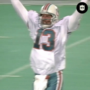 The ICONIC @DanMarino fake spike. One of the 100 greatest NFL plays of ALL TIME.  HAPPY BIRTHDAY to the @MiamiDolphins legend. 🎂 (via @nflthrowback)  📺: NFL 100 GREATEST PLAYS | Continues next FRIDAY at 8pm ET on @nflnetwork #NFL100 https://t.co/kdK093MpiK: The ICONIC @DanMarino fake spike. One of the 100 greatest NFL plays of ALL TIME.  HAPPY BIRTHDAY to the @MiamiDolphins legend. 🎂 (via @nflthrowback)  📺: NFL 100 GREATEST PLAYS | Continues next FRIDAY at 8pm ET on @nflnetwork #NFL100 https://t.co/kdK093MpiK