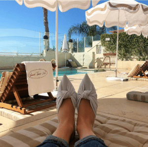 The ideal setting for #FeetUpFriday: poolside in LA with our ANNABELL knot pumps. http://bit.ly/WHITE_ANNABELL: The ideal setting for #FeetUpFriday: poolside in LA with our ANNABELL knot pumps. http://bit.ly/WHITE_ANNABELL