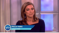 """""""It is a right, but it's very disrespectful,"""" Paula Faris says of Colin Kaepernick's protest of the national anthem. """"It's somewhat contradictory because here he is playing an American sport, getting paid American money from American fans — yet he can't stand for our American anthem."""": THE  IEW  PAULA FARIS  @PAULA FARIS  VIEW 20 """"It is a right, but it's very disrespectful,"""" Paula Faris says of Colin Kaepernick's protest of the national anthem. """"It's somewhat contradictory because here he is playing an American sport, getting paid American money from American fans — yet he can't stand for our American anthem."""""""