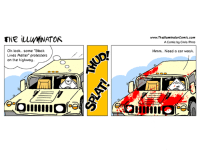 "Black Lives Matter, Black Lives Matter, and Illuminati: THE ILLIMINATOR  Oh look.. some ""Black  Lives Matter"" protesters  on the highway.  www.ThelluminatorComic com  AComic by Chris Pinto  Hmm.. Need a car wash. Which one is more important? #BlackLivesMatter ? #AllLivesMatter ? #BlueLivesMatter ? #NolivesMatter ?  More at http://www.facebook.com/theilluminatorcomic Check out our website at http://www.theilluminatorcomic.com  #mediablackout #foxnews #lgbt #blm  #protesters #protest #protesters #entitlements #ebt #foodstamps #trayvonmartin #TamirRice #EricGarner #MikeBrown #shutitdown #ferguson #IfTheyGunnedMeDown #cnn #msm #mainstreammedia #bbc #illuminati #newworldorder #WhitePrivilege"