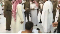 Memes, 🤖, and Imam: The Imam of the Grand Mosque in Makkah, Sheikh Maher al Muaiqly, waited for a disabled child, Ganem al Muftah, to finish praying so that he can greet him and honor him. SubhanAllah.