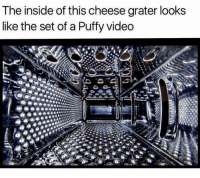 """All About the Benjamins, Memes, and Video: The inside of this cheese grater looks  like the set of a Puffy video <p>1997&hellip;it was all about the Benjamins. And cheddar. via /r/memes <a href=""""https://ift.tt/2r4VJ2C"""">https://ift.tt/2r4VJ2C</a></p>"""