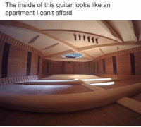 The inside of this guitar looks like an  apartment can't afford 😑😂😑