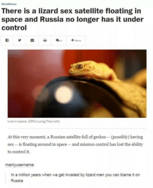 The invasion of Russian lizards: The invasion of Russian lizards