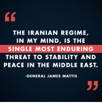 President-elect Trump selected General James Mattis, a retired 4-star Marine Corps general, as the next Secretary of Defense. General Mattis commanded CENTCOM, the command which oversees operations in the Middle East, and is an expert in counterterrorism. SHARE to congratulate General Mattis!: THE IRANIAN REGIME,  IN MY MIND, IS THE  SINGLE MOST ENDURING  THREAT TO STABILITY AND  PEACE IN THE MIDDLE EAST.  GENERAL JAMES MATTIS President-elect Trump selected General James Mattis, a retired 4-star Marine Corps general, as the next Secretary of Defense. General Mattis commanded CENTCOM, the command which oversees operations in the Middle East, and is an expert in counterterrorism. SHARE to congratulate General Mattis!