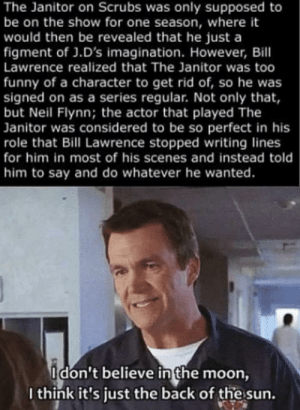 The janitor is literally the best character: The janitor is literally the best character