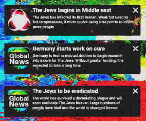 Work, Evolve, and Forever: The Jews begins in Middle east  The Jews has infected its first human! Weak but üused to  hot temperatures, it must evolve using DNA points to infect  mote people  Germany štarts work on cure  Global Germany is fast to instruct doctors to begin research  into a cure for The Jews. Without greater funding. it is  expected to take a long time  Global  ews  The Jews to be eradicated  The world has survived a devastating plague and will  s0on eradicate The Jews forever. Large numbers of  people have died and the world is changed forever Oof