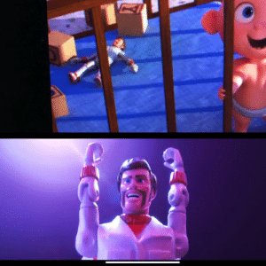 The Incredibles, Toy Story, and Incredibles 2: The kaboom guy from the toy story 4 trailer was in the Incredibles 2!