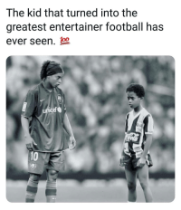 Football, Memes, and 🤖: The kid that turned into the  greatest entertainer football has  ever seen.  unicef  10 This Edit 😍👌⚽️