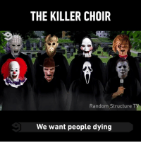 Michael Myers kills it 👏 By @cameronjhenderson - halloween spooktober choir 9gag: THE KILLER CHOIR  Random Structure T  We want people dying Michael Myers kills it 👏 By @cameronjhenderson - halloween spooktober choir 9gag