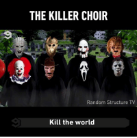 Michael Myers kills it 👏  By Cameron J.: THE KILLER CHOIR  Random Structure TV  Kill the world Michael Myers kills it 👏  By Cameron J.