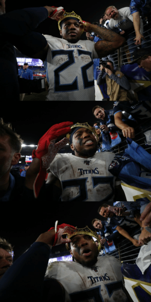 The King has been crowned. 👑 #NFLPlayoffs #Titans https://t.co/c23lZyc199: The King has been crowned. 👑 #NFLPlayoffs #Titans https://t.co/c23lZyc199