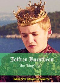 "Game of Thrones, Tumblr, and Blog: the king lo  What? I'm allergic to poverty <p><a class=""tumblr_blog"" href=""http://lukecastellan.tumblr.com/post/46903329718"">lukecastellan</a>:</p> <blockquote> <p><a href=""http://theonnojoy.tumblr.com/tagged/realgot"">game of thrones as the real housewives of westeros</a></p> </blockquote>"