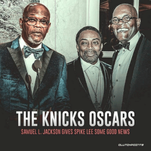 Samuel L. Jackson couldn't resist announcing the Knicks' win during the Oscars. 👀😱 — @knicksnation_ny: THE KNICKS OSCARS  SAMUEL L. JACKSON GIVES SPIKE LEE SOME GOOD NEWS  CLUTCHPOェ TS Samuel L. Jackson couldn't resist announcing the Knicks' win during the Oscars. 👀😱 — @knicksnation_ny