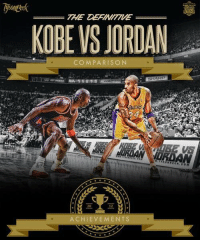 Like if you think Michael Jordan and Kobe Bryant are the two greatest shooting guards of all time.  -TDot: THE  KOBE VS JORDAN  COMPARISON  HADANA MORAN  ACHIEVEMENTS Like if you think Michael Jordan and Kobe Bryant are the two greatest shooting guards of all time.  -TDot