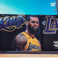 Taken, Vandalism, and Down: The #LABron mural was taken down after multiple acts of vandalism