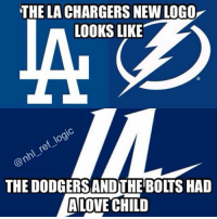 THE LACHARGERS NEWLOGO  LOOKS LIKE  THE DODGERSANDTHE BOLTS HAD  LOVE CHILD Can't be unseen 😂 Whoever made the logo must've been high af NHL nfl mlb hockey lachargers ladodgers tampabaylightning