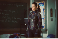 First look at Hope van Dyne (Evangeline Lilly) in costume as The Wasp!  (Andrew Gifford): the ladits  ats of the dailre First look at Hope van Dyne (Evangeline Lilly) in costume as The Wasp!  (Andrew Gifford)