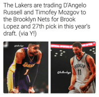 9d0d0fbab3a The Lakers Are Trading d Angelo Russell and Timofey Mozgov to the Brooklyn  Nets for Brook Lopez and 27th Pick in This Year s Draft via Y! Which Team  Got the ...