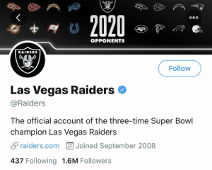 The Las Vegas Raiders have won 3 Super Bowls before playing a single game 🤔 https://t.co/F0cLDeM4DR: The Las Vegas Raiders have won 3 Super Bowls before playing a single game 🤔 https://t.co/F0cLDeM4DR