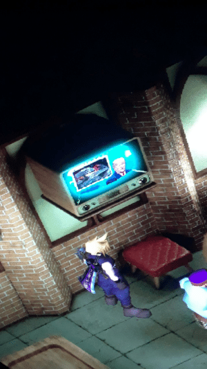 The last console I bought was the PS2. Been a PC gamer ever since. Anyways recently I've be replaying FF7 (heavily modded) and noticed this on the tv in the bar in Kalm. Anyone know the whole story behind trump being in FF7? Just from a mod right?: The last console I bought was the PS2. Been a PC gamer ever since. Anyways recently I've be replaying FF7 (heavily modded) and noticed this on the tv in the bar in Kalm. Anyone know the whole story behind trump being in FF7? Just from a mod right?