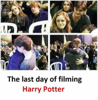 Harry Potter, Memes, and 🤖: The last day of filming  Harry Potter Follow our new page - @sadcasm.co