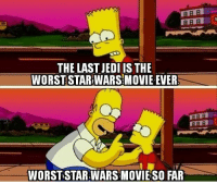 "Jedi, Memes, and Http: THE LAST JEDI IS THE  WORSTSTAR WARS MOVIE EVER  ARB  WORST-STAR WAR SMOVIESO FAR <p>It can always get worse via /r/memes <a href=""http://ift.tt/2C65CUq"">http://ift.tt/2C65CUq</a></p>"