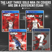 Memes, Nba, and Paul George: THE LAST THREE SOLO NBA 2K COVERS  ARE ON A DIFFERENT TEAM  ⑤SLAMI STUDIOS  NBA2K4  PAUL GEORGE  PACER  13  NRAZKS  OMA  35u  RP The NBA 2K Cover curse?? 🤔 👉 Tag a friend you always beat in 2K! -- Follow @slamstudios for more! - DM if interested in cheap logos, graphics, & more.