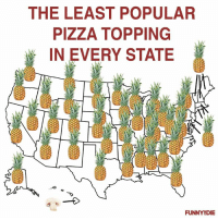 The results are in: THE LEAST POPULAR  PIZZA TOPPING  IN EVERY STATE  FUNNY8DIE The results are in