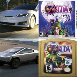 Has someone done this yet?: THE LEGEND OF  SLDA  TM  MAJORA'S MASK 3D  EVERYONE 10+  Playable in 2D and 3D. 3D mode for ages 7+. See back.  Nintendo  ESRB  V7NOAH NODENSE  THE LEGEND OF  LDA  MAJORA S MASK  NINTENDO  EVERYONE  Nintendo  Official  Nintendo  Seal of Quality  NUS-CO6 (USA)  CONTENT RATED BY  ESRB  NUS-NZSE-USA  NINTENDO  S Has someone done this yet?