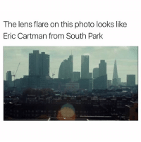 (@satan) posts really dank memes: The lens flare on this photo looks like  Eric Cartman from South Park (@satan) posts really dank memes