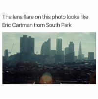 lens flare: The lens flare on this photo looks like  Eric Cartman from South Park