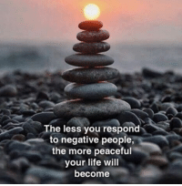 Memes, 🤖, and Negative People: The less you respond  to negative people,  the more peaceful  your life will  become