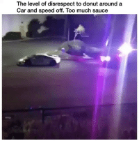 Memes, Too Much, and Sauce: The level of disrespect to donut around a  Car and speed off. Too much sauce 💯💯