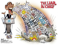 "Abc, Africa, and America: THE LIAR  IN CHIEF  GRRRGRAPHICS.CoM <p><a class=""tumblr_blog"" href=""http://slide-to-the-right.tumblr.com/post/33809158807/whatwouldthomasjeffersondo-a-sample-of-obamas"">slide-to-the-right</a>:</p> <blockquote> <p><a class=""tumblr_blog"" href=""http://whatwouldthomasjeffersondo.tumblr.com/post/33808568947/a-sample-of-obamas-lies-we-got-back-every"">whatwouldthomasjeffersondo</a>:</p> <blockquote> <p><a href=""http://obamalies.net/list-of-lies"">A sample of Obama's lies</a></p> <blockquote> <p> <strong>""We got back every dime we used to rescue the financial system""</strong><br/><a href=""http://cnsnews.com/news/article/obama-we-got-back-every-dime-bailout-cbo-bailout-will-lose-24-billion"">cbsnews.com</a></p> <p><strong>Benghazi violence was caused by an internet video &amp; demonstrations</strong><br/><a href=""http://obamalies.net/scandal-libyan-embassy-attack.html"">State Department</a></p> <p><strong>""Under Gov. Romney's definition … Donald Trump is a small business.""</strong><br/><a href=""http://www.politifact.com/truth-o-meter/statements/2012/oct/04/barack-obama/barack-obama-says-donald-trump-small-business-deba/"">politifact.com</a></p> <p><strong>Because of Obamacare, ""over the last two years, health care premiums have gone up — it's true — but they've gone up slower than any time in the last 50 years."" </strong><br/><a href=""http://www.politifact.com/truth-o-meter/statements/2012/oct/04/barack-obama/obama-said-health-care-premiums-went-slower-any-ti/"">politifact.com</a></p> <p><strong>""I think it's important for us to understand that the Fast and Furious program was a field-initiated program begun under the previous administration""</strong><br/><a href=""http://abcnews.go.com/blogs/politics/2012/09/president-obama-falsely-claims-fast-and-furious-program-begun-under-the-previous-administration/"">abcnews.com</a></p> <p><strong> Romney and Ryan will gut pell grants for low-income college students.</strong><br/><a href=""http://factcheck.org/2012/09/democratic-disinformation-from-charlotte/"">Factcheck.org</a></p> <p><strong> My budget will cut the deficit by $4 Trillion over 10 years.</strong><br/><a href=""http://factcheck.org/2012/09/factchecking-obama-and-biden/"">Factcheck.org</a></p> <p><strong> ""I am told that Governor Romney's new running mate, Paul Ryan, might be around Iowa the next few days,"" he said while in Council Bluffs, Iowa. ""He is one of the leaders of Congress standing in the way. So if you happen to see Congressman Ryan, tell him how important this farm bill is to Iowa and our rural communities.""</strong><br/><a href=""http://clerk.house.gov/evs/2012/roll554.xml"">House passed bill on August 2, 2012 (Paul Ryan voted yes) </a></p> <p><strong>The American automobile industry has come roaring back…So now I want to say what we did with the auto industry, we can do it in manufacturing across America. Let's make sure advanced, high-tech manufacturing jobs take root here, not in China. And that means supporting investment here. Governor Romney … invested in companies that were called 'pioneers' of outsourcing. I don't want to outsource. I want to insource.<br/></strong><a href=""http://www.forbes.com/sites/paulroderickgregory/2012/08/12/outsourcer-in-chief-obama-of-general-motors/"" title=""Outsourcer &amp; Cheif"">Forbes- Outsourcer-In-Chief: Obama Of General Motors</a></p> <p><strong>""You Didn't Build that""<br/></strong><a href=""http://obamalies.net/lie-you-didnt-build-that.html"" title=""You didn't build that"">A few examples</a><strong><br/></strong></p> <h3>Lies During Third Year</h3> <p><strong>I will walk on that picket line with you, if workers are denied the right to bargain.</strong><br/><a href=""http://youtu.be/SA9KC8SMu3o"">Youtube</a></p> <p><strong>In his 2012 State of the Union Address, President Obama said that American oil production is the highest that it's been in eight years.</strong><br/><a href=""http://www.breitbart.com""></a><a href=""http://www.breitbart.com"">www.breitbart.com</a></p> <p><strong>I've done more for Israel's security than any President ever</strong><a href=""http://www.dailymail.co.uk/news/article-1391071/G8-summit-Barack-Obama-David-Cameron-ask-allies-bankroll-Arab-Spring-countries-embrace-democracy.html"" title=""Obama Anti Israel""><br/>Obama aided Islamic Extremists take over of Egypt/ Libya</a> – <a href=""http://bigpeace.com/jbradley/2011/10/14/libyan-weaponry-pours-into-gaza-empowers-hamas/"">Weapons pour into Gaza</a></p> <p><strong>Virtually every Senate Republican voted against the tax cut last week</strong><a href=""http://www.examiner.com/conservative-in-spokane/obama-falsely-claims-no-gop-senators-voted-for-payroll-tax-cut"" title=""Obama Lies about Payroll Tax""><br/>Examiner</a></p> <p><strong>""Every idea that we've put forward are ones that traditionally have been supported by Democrats and Republicans alike.""</strong><a href=""http://hotair.com/archives/2011/10/07/ap-fact-check-wonders-if-obama-bothers-to-listen/"" title=""Obama Raises Taxes""><br/>Like Raising taxes?</a></p> <p><strong>Obama met highly qualified out of work teacher Robert Baroz</strong><a href=""http://bigjournalism.com/wthuston/2011/10/07/why-isnt-obamas-teacher-lie-national-news/"" title=""Obama Never Met Robert Baroz""><br/>He wasn't out of work and Obama never met him. </a></p> <p><strong>GOP Responsible for Obama Jobs Bill Not Passing</strong><a href=""http://www.freerepublic.com/focus/f-news/2791287/posts""><br/>Dems Rejected Jobs Bill</a></p> <p><strong>You have 80 percent of the American people who support a balanced approach. Eighty percent of the American people support an approach that includes revenues and includes cuts. So the notion that somehow the American people aren't sold is not the problem</strong><a href=""http://www.gallup.com/poll/148472/Deficit-Americans-Prefer-Spending-Cuts-Open-Tax-Hikes.aspx/t_blank"" title=""Americans on Spending Cuts""><br/>Gallup Poll: Only 69%</a></p> <p><strong>These are obligations that the United States has taken on in the past. Congress has run up the credit card, and we now have an obligation to pay our bills.</strong><a href=""http://obamalies.net/wp-content/uploads/2010/01/deficit.jpg"" title=""Deficit All on Obama""><br/>Looks like it's been incurred mostly in the years of Obama</a></p> <p><strong>Jobs Bill Paid for</strong><a href=""http://www.theblaze.com/stories/ap-fact-check-obamas-jobs-plan-paid-for-seems-not/""><br/>Seems not so much Paid for</a></p> <p><strong>Then you've got their(GOP)which is dirtier air, dirtier water, less people with health insurance</strong><a href=""http://obamalies.net/gop-wants-dirtier-air.html"" title=""Dirtier Air""><br/>Barack Obama, campaiging in Asheville, NC, 10/17/11</a></p> <p><strong>I cannot guarantee that those checks go out on August 3rd if we haven't resolved this issue. Because there may simply not be the money in the coffers to do it.</strong><a href=""http://blog.american.com/2011/07/would-social-security-benefits-be-cut-if-the-debt-limit-is-not-increased/""><br/>American.com</a></p> <p><strong>USA producing more oil than ever before</strong><a href=""http://petroleuminsights.blogspot.com/2011/04/us-crude-oil-production-1970-1980-1990.html"" title=""Petroleum Insights""><br/>Petroleum Insights</a></p> <p><strong>Fence between US and Mexico is ""Practically Complete""</strong><a href=""http://nation.foxnews.com/border-fence/2011/05/10/obama-claims-border-fence-basically-complete-its-only-5-finished""><br/>Department of Homeland Security says 5%</a></p> <p><strong>Rich doesn't pay their fair share.</strong><a href=""http://ntu.org/tax-basics/who-pays-income-taxes.html""><br/>National Taxpayers Union</a></p> <p><strong> Mitt Romney would deny gay people the right to adopt children. </strong><br/><a href=""http://www.youtube.com/watch?v=gMWphSqLRmE""> Cnn Interview </a></p> <h3><strong>Lies During Second Year</strong></h3> <p><strong>Obama claimed the SCOTUS decision in Citizens United v. FEC, ""open[ed] the floodgates for special interests — including foreign corporations — to spend without limit in our elections.</strong><br/><a href=""http://www.nationalreview.com/corner/193894/president-wrong-i-citizens-united-i-case/bradley-smith"">nationalreview.com</a></p> <p><strong>No signing statements to nullify or undermine congressional instructions as enacted into law</strong><a href=""http://obamalies.net/obama-lies-about-signing-statements.html"" title=""Obama Lies about Czars""><br/>Obama Lies to Keep Czars</a></p> <p><strong>No ""boots"" on the ground Libya</strong><br/>Anyone that has worked with the AC-130 gunship can tell you, you need spotters to let aircraft know where the targets are. Usually it is Special Forces, Rangers etc trained for this mission. It's <a href=""http://www.nytimes.com/2011/03/31/world/africa/31intel.html?_r=1&amp;hp"" title=""Boots on the Groudn Lie"">CIA Agents in Libya</a> on the ground</p> <p><strong>Reform will also rein in the abuse and excess that nearly brought down our financial system. It will finally bring transparency to the kinds of complex, risky transactions that helped trigger the financial crisis.</strong><a href=""http://obamalies.net/obama-lies-about-financial-reform-bill.html""><br/>Obama Lies About Financial Reform Bill</a></p> <p><strong>All Americans WILL BE were, ""surprised, disappointed and angry"" about lockerbie bomber</strong><a href=""http://obamalies.net/obama-backed-release-of-lockerbie-bomber.html""><br/>Obama Memo</a></p> <p><strong>I will not rest until the BP Oil Spill stops</strong><a href=""http://obamalies.net/obama-will-not-rest-untill-bp-spill-stops.html""><br/>Obama's Schedule</a></p> <p><strong>The health care bill will not increase the deficit by one dime.</strong><br/>Campaign and Presidency</p> <p><strong>If you like the health care plan you have you can keep it</strong><a href=""http://townhall.com/tipsheet/guybenson/2011/02/02/if_you_like_your_plan,_you_can_keep_your_plan"" title=""Keep your Plan Lie""><br/>TownHall</a></p> <p><strong>""Under our plan, no federal dollars will be used to fund abortions, and federal conscience laws will remain in place.""</strong><a href=""http://obamalies.net/obama-lies-about-funded-abortions.html""><br/>U.S. Capitol, Washington, D.C., September 9, 2009.</a></p> <p><strong>ObamaCare Fee is not a new tax</strong><a href=""http://obamalies.net/obama-denies-healthcare-is-a-new-tax-on-all-americans.html""><br/>Obama denies healthcare is a new tax on all Americans</a></p> <p><strong>We have run out of places in the US to drill for oil.</strong><a href=""http://obamalies.net/obama-oval-office-bp-lies.html""><br/>Obama's oval office speech in June 2010</a></p> <p><strong>Now suddenly if you don't have your papers and you took your kid out to get ice cream, you can be harassed, that's something that could potentially happen.</strong><a href=""http://obamalies.net/the-lies-about-the-arizona-immigration-law.html""><br/>Arizona Immigration Law</a></p> <p><strong>Doctors choose amputation because they get better compensation. Greedy Doctors taking out tonsils for more money.</strong><a href=""http://obamalies.net/abc-reports-on-obamas-lies.html"" title=""Obama Healthcare Lies""><br/>Claims never documented</a></p> <p><strong>The Health Care Package will pay for itself</strong><a href=""http://www.time.com/time/politics/article/0,8599,1894939,00.html"" title=""Time Obama Lies""><br/>Time</a></p> <p><strong>Republicans don't have a single idea that's different from George Bush's ideas — not one.</strong><br/>Hmm Immigration?</p> <p><strong>We shouldn't Mandate the purchase of health care</strong><a href=""http://obamalies.net/obama-liesmandates-purchasing-health-care.html""><br/>Democratic Debate Lies</a></p> <p><strong>Obama says he'll save average family $8,000 in gas</strong><br/><a href=""http://obamalies.net/obama-says-hell-save-average-family-8000-in-gas.html"" title=""Obama says hell save average family $8,000 in gas"">Video Proof</a></p> <p><strong>I am immediately instituting PayGo ""Pay as you go""</strong><a href=""http://voices.washingtonpost.com/44/2009/06/09/obama_announces_push_for_paygo.html"" title=""PayGo Lie""><br/>Said during a speech immediately after the Trillion Dollar ""Shovel Ready"" bill. </a></p> <p><strong>I got the Message from Massachusetts</strong><a href=""http://dailybail.com/home/obama-discusses-the-message-of-massachusetts-healthcare-refo.html""><br/>Daily Bail</a></p> <h3>Lies During First Year</h3> <p><strong>We began by passing a Recovery Act that has already saved or created over 150,000 jobs."" – caught cooking the books and now changed to 'jobs supported' versus 'created/saved'</strong><a href=""http://www.oregonlive.com/politics/index.ssf/2009/04/ap_fact_check_obama_disowns_de.html"" title=""AP Fact checker""><br/>AP fact Checker</a></p> <p><strong>Number one, we inherited a $1.3 trillion deficit. … That wasn't me."" – Congress, under Democratic control in 2007 and 2008, controlled the purse strings that led to the deficit Obama inherited.Obama supported the emergency bailout package in Bush's final months — a package Democratic leaders wanted to make bigger.</strong><a href=""http://www.oregonlive.com/politics/index.ssf/2009/04/ap_fact_check_obama_disowns_de.html"" title=""AP Fact checker""><br/>AP fact Checker</a></p> <p><strong>Collective salvation</strong><a href=""http://obamalies.net/0bama-says-hes-a-christian.html"" title=""Obama Christian""><br/>Obama calls himself a Christian</a></p> <p><strong>I do solemnly swear (or affirm) that I will faithfully execute the Office of President of the United States, and will to the best of my ability, preserve, protect and defend the Constitution of the United States.</strong><br/>Obama Inauguration. 20 Jan 2009</p> <p><strong>Cut Deficit in Half by end of first term</strong><a href=""http://obamalies.net/obamas-pledge-to-cut-deficit-in-half-laughable.html"" title=""Associated Press""><br/>Associated Press Video</a></p> <p><strong>Health Care deals will be covered on C-span</strong><a href=""http://obamalies.net/obama-lied-about-c-span.html""><br/>Obama Lies</a></p> <p><strong>As President I will recognize the Armenian Genocide</strong><a href=""http://blogs.abcnews.com/politicalpunch/2010/04/once-again-president-obama-breaks-promise-to-call-armenian-genocide-genocide.html"" title=""Obama Lies about Genocide""><br/>ABC</a></p> <p><strong>Recovery Act will save or create jobs</strong><a href=""http://abcnews.go.com/Politics/jobs-saved-created-congressional-districts-exist/story?id=9097853""><br/>ABC News</a></p> <p><strong>Unemployment rate will be 8.5% without stimulus.</strong><a href=""http://obamalies.net/obamas-economic-plan.html"" title=""Obama Stimulus Lies""><br/>Obama Lies</a></p> <p><strong>No Earmarks in the $787 Billion Stimulus</strong><a href=""http://obamalies.net/787-billion-stimulus-bill-with-earmarks.html"" title=""Obama Lies says CNN""><br/>CNN</a></p> <p><strong>I happen to be a proponent of a single payer universal health care plan</strong><a href=""http://spectator.org/blog/2009/08/11/obama-lies-on-single-payer-dis""><br/>Specator.Org</a></p> <p><strong>We have launched a housing plan that will help responsible families facing the threat of foreclosure lower their monthly payments and refinance their mortgages.</strong><a href=""http://obamalies.net/obamas-bailout-lies.html"" title=""Obama Lies""><br/>Obama Lies</a></p> <p><strong>I am not somebody who promotes same-sex marriage.</strong><a href=""http://obamalies.net/obamas-gay-marriage-lies.html""><br/>NPR</a></p> <p><strong>Guantanamo bay to be closed within a year</strong><a href=""http://www.cfr.org/publication/21247/should_guantanamo_bay_be_closed.html""><br/>Council on Foreign Relations.</a></p> <p><strong><strong>Won't Raise taxes on those making less than 250,000 per year.</strong></strong><a href=""http://www.businessweek.com/news/2010-02-11/obama-agnostic-on-deficit-cuts-won-t-prejudge-tax-increases.html""><br/>Businessweek: Obama Agnostic on taxes</a><a href=""http://obamalies.net/obama-lied-about-taxes-on-those-making-less-than-250000.html"" title=""Obama Lied about taxes on those making less than 250000""><br/>List of Tax Promise Violations</a></p> <h3><strong>2008 Campaign Lies</strong></h3> <p><strong> I will walk the picket line with you, if workers are denied the right to bargain </strong><br/><a href=""http://youtu.be/SA9KC8SMu3o""> Youtube </a></p> <p><strong>No more wiretapping of citizens</strong><a href=""http://youtu.be/gF3MC-TkpRQ"" title=""Youtube""><br/>Youtube</a></p> <p><strong>Mr. Ayers as ""a guy who lives in my neighborhood,"" but ""not somebody who I exchange ideas from on a regular basis.</strong><a href=""http://newsbusters.org/blogs/rich-noyes/2008/09/23/barack-obama-bill-ayers-stanley-kurtz-makes-connection"" title=""News Busters""><br/>News Busters</a></p> <p><strong>I had a uncle who was one of the, who was part of the first American troops to go into Auschwitz and liberate the concentration camps</strong><a href=""http://www.ushmm.org/museum/exhibit/focus/auschwitz/"" title=""United States ""><br/>United States Holocaust Memorial Museum</a></p> <p><strong>Obama campaign would accept public funding</strong><a href=""http://blogs.abcnews.com/politicalpunch/2008/06/how-mccains-pub.html""><br/>ABC</a></p> <p><strong>Minimum Wage will increase to $9.50/hr</strong><a href=""http://obamalies.net/death-center-leftism-decline-democratic-party.html"" title=""A Socialist""><br/>A Socialist</a></p> <p><strong>Ann Dunham spent the months before her death in 1995 fighting with insurance companies that sought to deny her the coverage she needed to pay for treatment.</strong><a href=""http://obamalies.net/obamas-healthcare-lies-mounting.html""><br/>Mounting Heath Care Lies</a></p> <p><strong>Didn't know Jeremiah Wright was Radical</strong><br/><a href=""http://obamalies.net/obama-wright-lies-exposed-18-months-late.html"">Dreams of My Father</a> – A radical Socialist.</p> <p><strong>Would have the most transparent administration in History</strong><br/><a href=""http://www.cato.org/pub_display.php?pub_id=11449"">Cato Institute</a></p> <p><strong>We will go through our federal budget – page by page, line by line – eliminating those programs we don't need, and insisting that those we do operate in a sensible cost-effective way.</strong><a href=""http://www.boston.com/news/politics/politicalintelligence/2008/11/obama_vows_line.html""><br/>Boston Globe</a></p> <p><strong>I have visited all 57 states.</strong><a href=""http://www.snopes.com/politics/obama/57states.asp""><br/>Snopes</a></p> <p><strong>I'll get rid of earmarks</strong><a href=""http://obamalies.net/obama-lies-about-5-days-to-review-healthcare-bill.html""><br/>Source: Any bill passed during presidency</a></p> <p><strong>When a bill lands on my Desk, The American people will have 5 days to review it before I sign it.</strong><a href=""http://obamalies.net/obama-lies-about-5-days-to-review-healthcare-bill.html"" title=""5 days to review Bill Lie""><br/>Campaign Speech</a></p> <p><strong>My father served in World War II.</strong><a href=""http://obamalies.net/obamas-father-served-in-wwii.html""><br/>The Videos and the Facts</a></p> <p><strong>Have troops out of Iraq by March 31, 2009</strong><a href=""http://obamalies.net/obama-iraq-withdrawal-lies.html"" title=""Obama Iraq Withdrawal Lies""><br/>News Video</a></p> <p><strong>Seniors Making less than 50,000 will not have to pay taxes</strong><a href=""http://www.youtube.com/watch?v=0Ouvmwpx4OY""><br/>YouTube</a></p> <p><strong>Would not vote for any bill supporting troop funding without a firm withdrawal commitment from the Bush Administration.</strong><br/>He has done nothing but continue the Bush admins strategy and to explain how the ""surges total failure"" has now become his greatest achievement.</p> <p><strong><strong>Present Votes Are Common In Illinois</strong></strong><a href=""http://www.npr.org/templates/story/story.php?storyId=18348437""><br/>NPR</a></p> <p><strong><strong>I Won Michigan</strong></strong><a href=""http://www.huffingtonpost.com/2008/03/05/david-gregory-gives-obama_n_90130.html""><br/>Huffington Post</a></p> <p><strong><strong>I won Nevada</strong></strong><a href=""http://www.thenation.com/blogs/state_of_change/272881""><br/>The Nation</a></p> <p><strong><strong>I don't Have Lobbyists</strong></strong><a href=""http://www.usnews.com/blogs/robert-schlesinger/2009/01/22/no-lobbyist-in-the-obama-administration--except-when-there-is-one.html""><br/>US News</a></p> <p><strong><strong>My Campaign Had Nothing To Do With The 1984 Ad</strong></strong><a href=""http://crooksandliars.com/2007/03/20/the-mystery-behind-the-obama-1984-ad""><br/>Crooks and Liars</a></p> <p><strong><strong>I Have Always Been Against Iraq</strong></strong><a href=""http://voices.washingtonpost.com/fact-checker/2008/01/clinton_vs_obama_on_iraq.html""><br/>Washington Post</a></p> <p><strong><strong>My Wife Didn't Mean What She Said About Pride In Country</strong></strong><a href=""http://politicalticker.blogs.cnn.com/2008/02/19/cindy-mccain-michelle-obama-in-patriotism-flap/""><br/>CNN</a></p> <p><strong>Barack was never an ACORN trainer and never worked for ACORN in any other capacity.</strong><a href=""http://obamalies.net/obama-flip-flops-on-acorn.html""><br/>Obama Campaign Video</a></p> <p><strong><strong>I Barely Know Rezko</strong></strong><a href=""http://www.suntimes.com/news/watchdogs/757340,CST-NWS-watchdog24.article""><br/>Sun Times</a></p> <p><strong>My Church Is Like Any Other Christian Church</strong><a href=""http://abcnews.go.com/Blotter/DemocraticDebate/story?id=4443788&amp;page=1""><br/>ABC News</a></p> </blockquote> </blockquote> <p>I'm just going to leave this here.</p> </blockquote>"