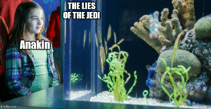 Jedi, Com, and Lies: THE LIES  OF THE JEDI  Anakin  imgflip.com From my point of view