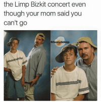 Memes, 🤖, and Limp Bizkit: the Limp Bizkit concert even  though your mom said you  can't go  OSonny5ideUp It's just one of those days 🍳™