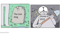 Disney, Money, and Lion: The Lion  MI King  Disney in  M.  SHENCOMIX.com Am I really going to defile this grave for money?
