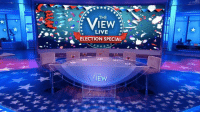 After this election season, you deserve a party! Join The View co-hosts LIVE on Lifetime for our election night viewing party — catch big surprises, celebrity guests, laughs and more! http://abc.tv/2eKazH6: THE  LIVE  ELECTION SPECIAL  THE  EW After this election season, you deserve a party! Join The View co-hosts LIVE on Lifetime for our election night viewing party — catch big surprises, celebrity guests, laughs and more! http://abc.tv/2eKazH6