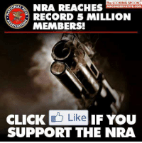Absolutely!: The LOOKING SPOON  NRA REACHES  NAL  RCONSERVATIVE.CO  RECORD 5 MILLION  OCIA  MEMBERS!  CLICK  Like IF You  SUPPORT THE NRA Absolutely!