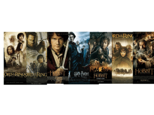 Journey, Movies, and Soon...: THE LORD.O TH RINC  HE DIRECTOR OF  E  D E FIN NG C HAPT  E DIRECTOR Of THE LORD OF THE RINGS  DRDRIN  OF  THE  THE FELLOWSHIP OF THE RIN  HOBBIT  THE  Hath Polfter HOBBIT  THE  OF  THE  THE T WO TOWERS THE RETURN OF THE KING P IN J M  OF  THE DESOLATION OF SMAUG  R VR PT S T T SL  MENICOAAT PCEY LEECE S P B  GOBITT  eTIRT  COMING SOON  DARK AND DIFF ICUIT TIMES LIE A  DECEMBER 13  E  DECEMBER 14  Tr o DECEMBER 17 aos  IN 3D AND HFR 3D  THE JOURNEY CONTINUES  THE JOURNEY ENDS Okay, so I'm watching the LOTR movies for the first time and something is just not right, like they keep adding characters out of nowhere and bringing whole new plot lines and then expecting the viewers to know what's going on. Am I watching them right? Is this the right order or not?