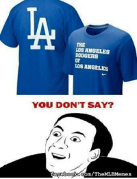 You can buy this shirt even though the Dodgers can't buy a win (Dan Gomez): THE  LOS ANGELES  DODGERS  OF  LOS ANGELES  YOU DON'T SAY?  com/Th  facebook You can buy this shirt even though the Dodgers can't buy a win (Dan Gomez)